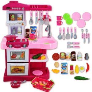 Cocinita De Juguete Con 30 Accesorios Incluidos