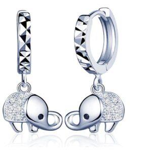Pendientes De Aros Diseño De Elefantes