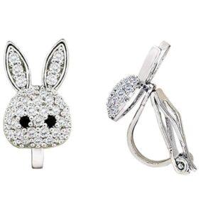 Pendientes De Clip Con Diseño De Conejo