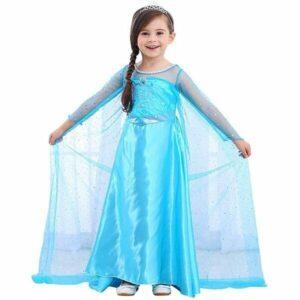 Traje de Princesa de la Nieve Vestido Infantil