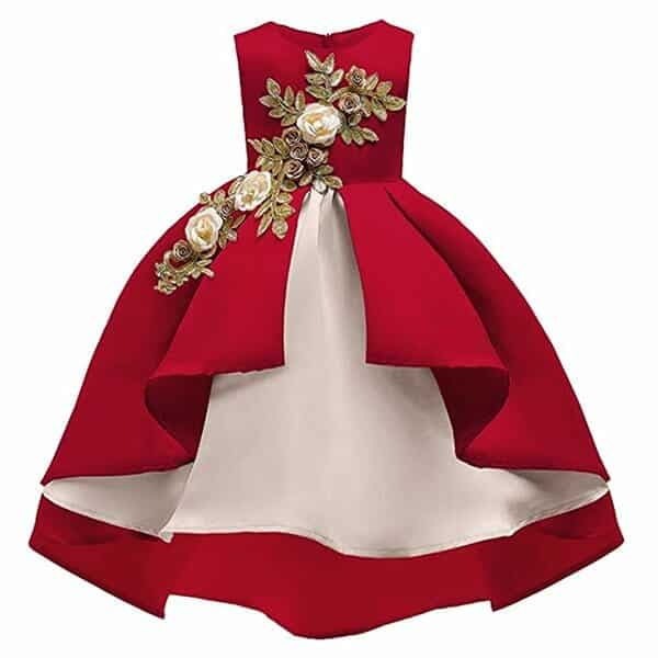 Vestido Elegante de Bautizo Para Niñas