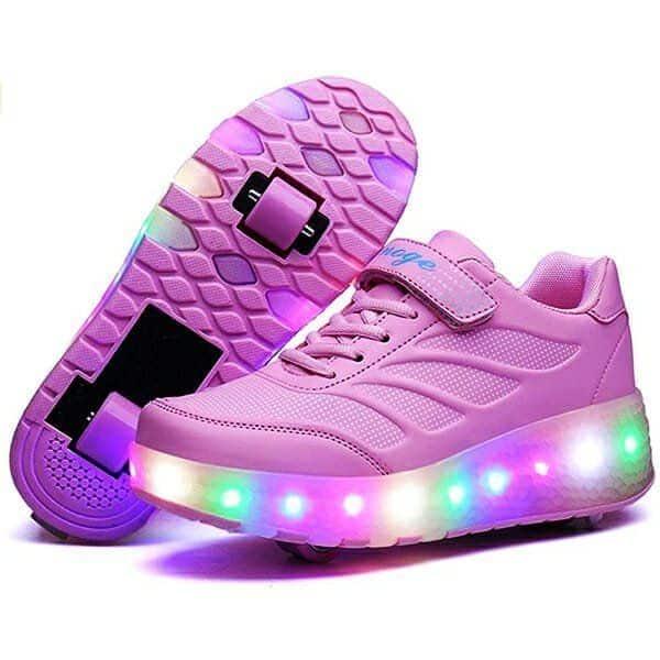 Zapatos Con Ruedas Dobles Para Niñas