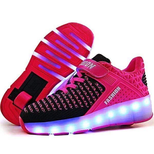 Zapatos Fashion Con Ruedas y Luces